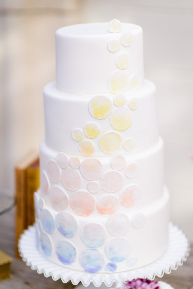 Ombre wedding cake | The Veil Wedding Photography | see more on: http://burnettsboards.com/2015/05/whimsical-pastel-ombre-wedding-ideas/