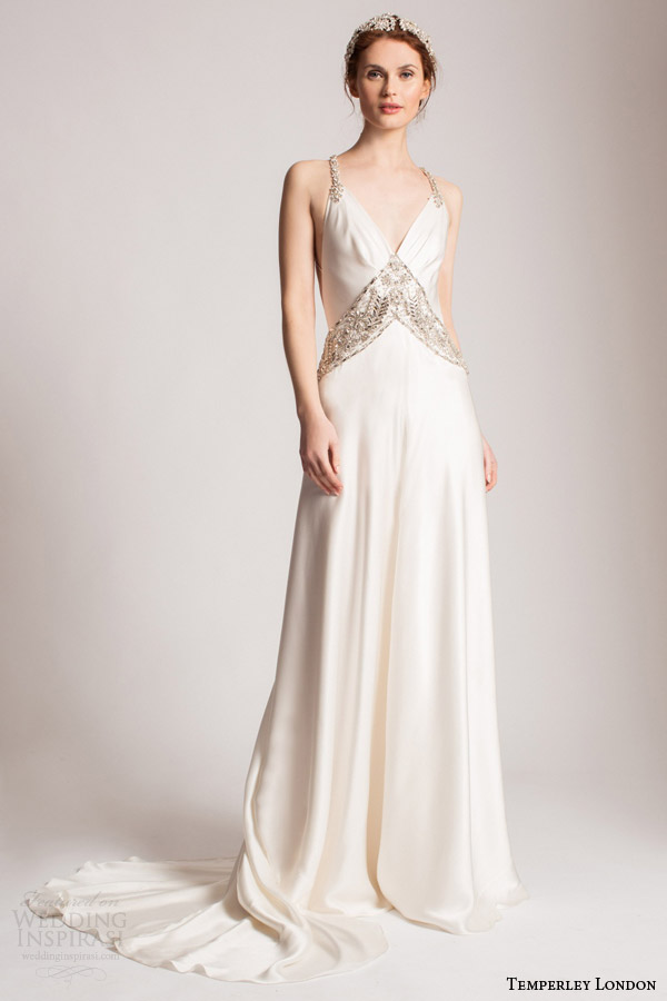 temperley london bridal summer 2016 bridal perdita sleeveless wedding dress embellished straps v neckline
