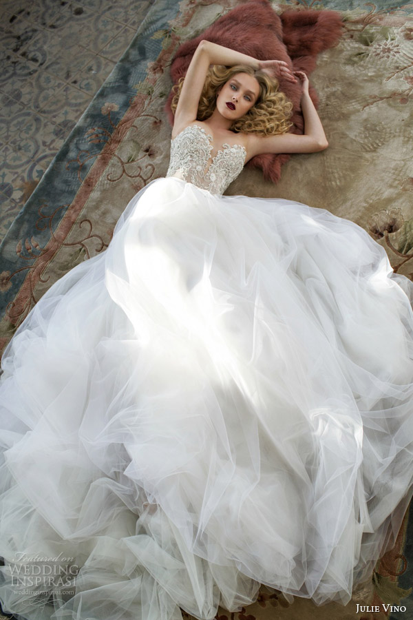 julie vino spring 2015 mystic dusk bridal collection trinity sweetheart wedding dress full view