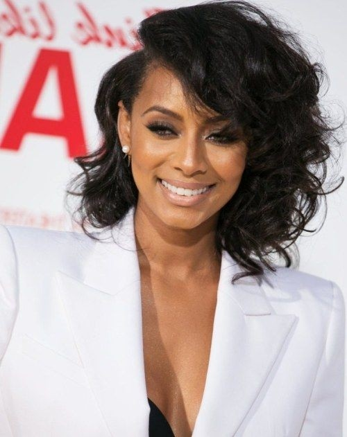 Keri Hilson Asymmetrical Short Curly Hairstyle