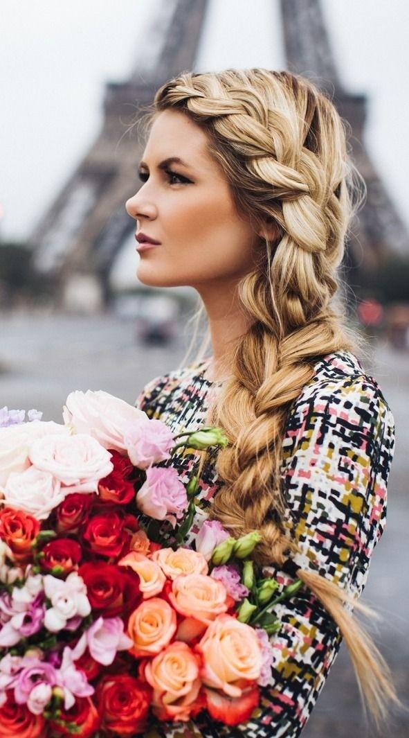 Loose French Side Braided Hairstyle