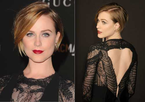 Evan Rachel Wood Bob Cut for Round Face