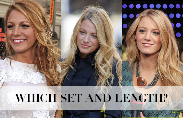 Which set and length hair extensions to get hair like Blake Lively