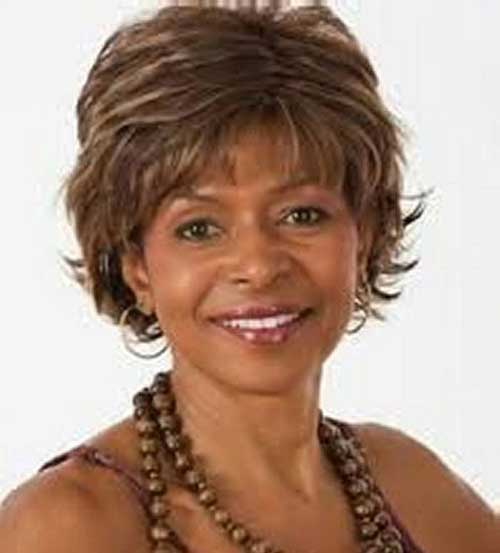 Casual Layered Short Haircut For Black Women Over 50