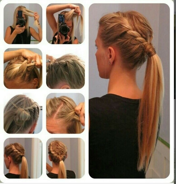 Braided Ponytail Hairstyle for Long Straight Hair
