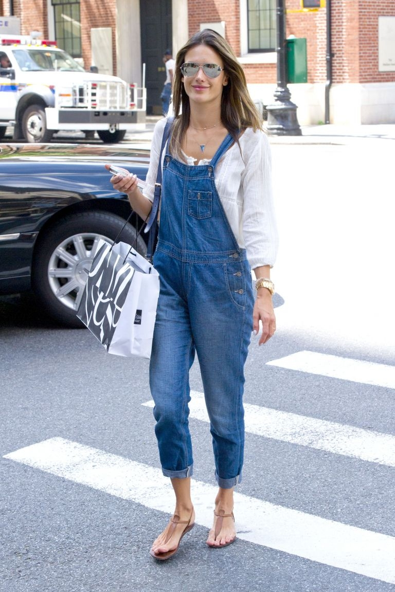 peasant blouse and overalls
