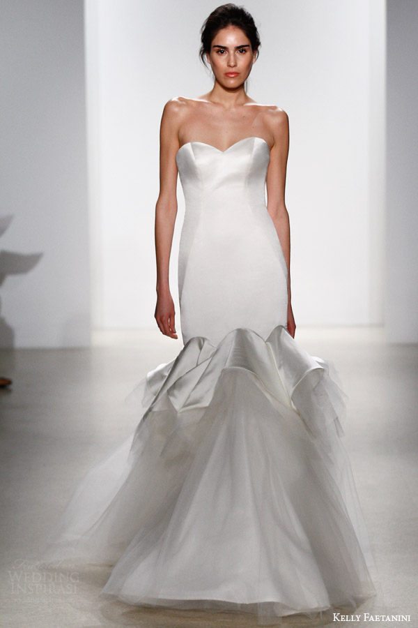 kelly faetanini bridal spring 2016 chloe strapless wedding dress sweetheart neckline