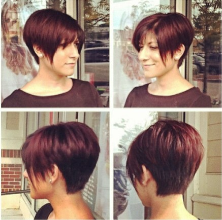 Long Pixie Haircut for Red Hair