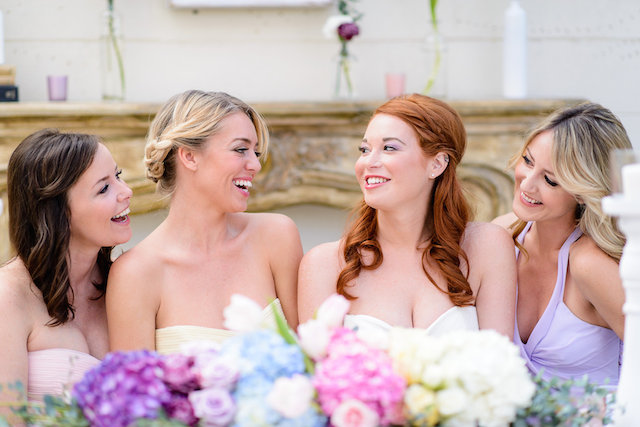 Bridesmaids | The Veil Wedding Photography | see more on: http://burnettsboards.com/2015/05/whimsical-pastel-ombre-wedding-ideas/