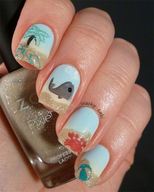 18 Beach Nail Art Designs Ideas Trends Stickers 2015 Summer Nails 10 18 Beach Nail Art Designs, Ideas, Trends & Stickers 2015 | Summer Nails