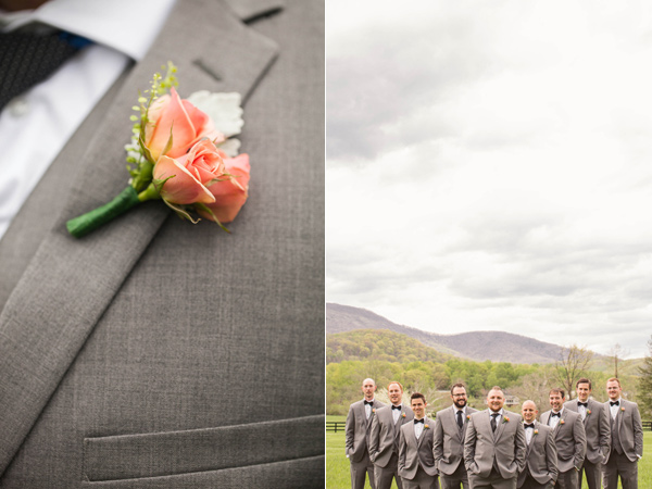 grooms boutonniere - photo by A Muse Photography http://ruffledblog.com/gold-glam-vineyard-wedding-in-virginia