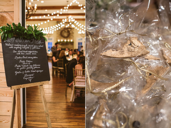 reception favors - photo by A Muse Photography http://ruffledblog.com/gold-glam-vineyard-wedding-in-virginia