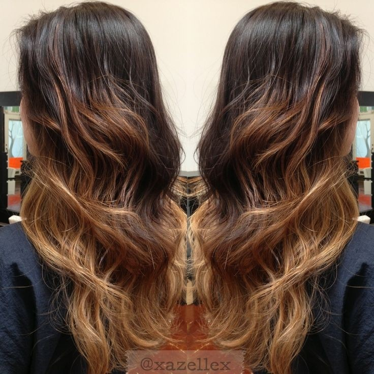 Brown to Caramel Ombre and Blonde Balayage  Balayage hair