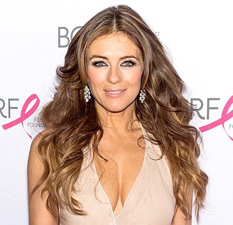 Elizabeth Hurley glowed at the Hot Pink Party, thanks to her shimmering pink makeup palette.