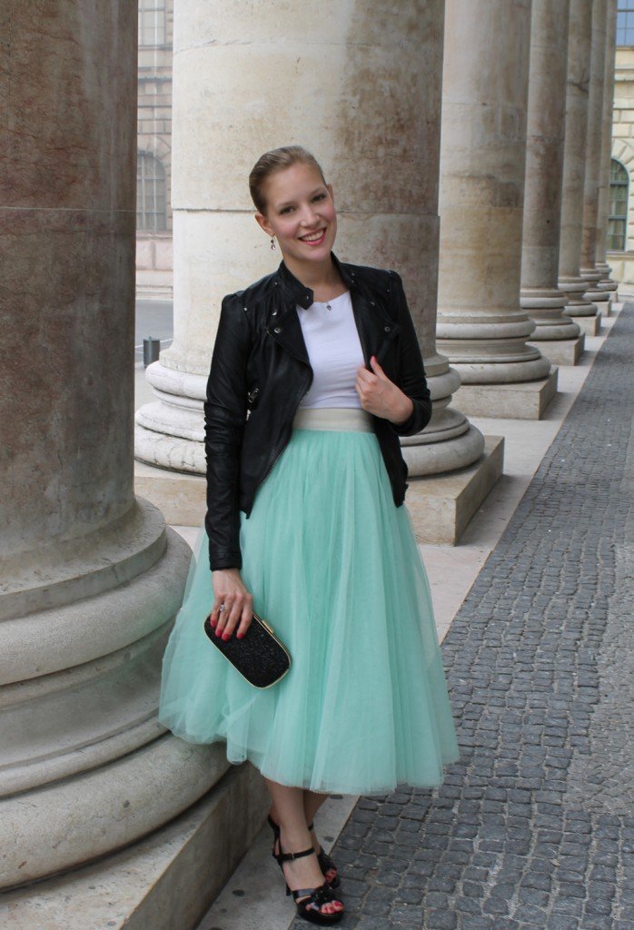 tulle skirt and blazer