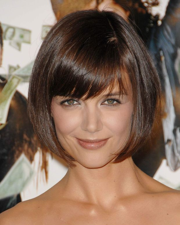 Katie Holmes at the 2008 premiere of 'Mad Money'.