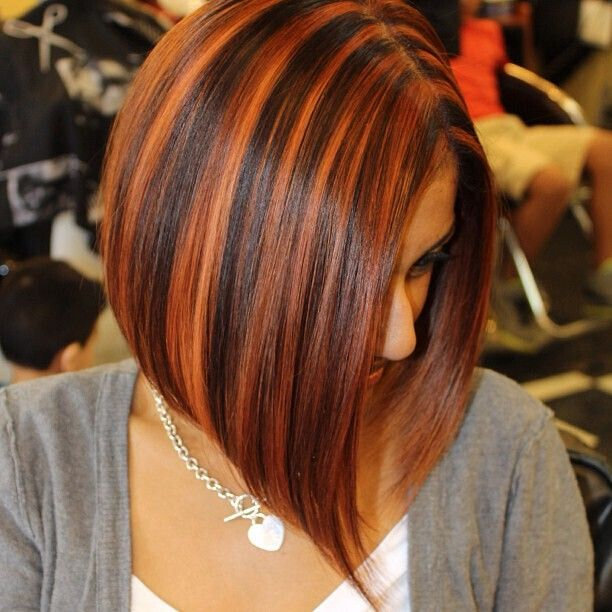 Short Bob Haircut with Blonde Highlights