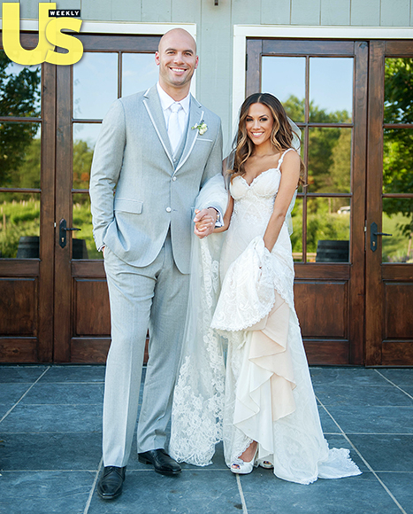 Jana Kramer and Michael Caussin on their wedding day