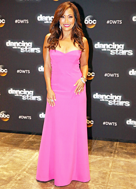 Carrie Ann Inaba worked a strapless hot pink dress during season 19.