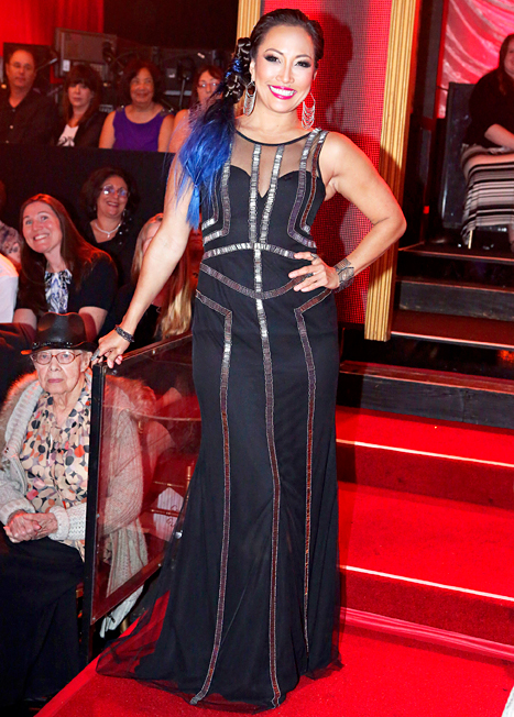 Welcoming Red Foo to the judges' table in season 18, Inaba decided she needed work a wild style, so she added bold blue extensions.