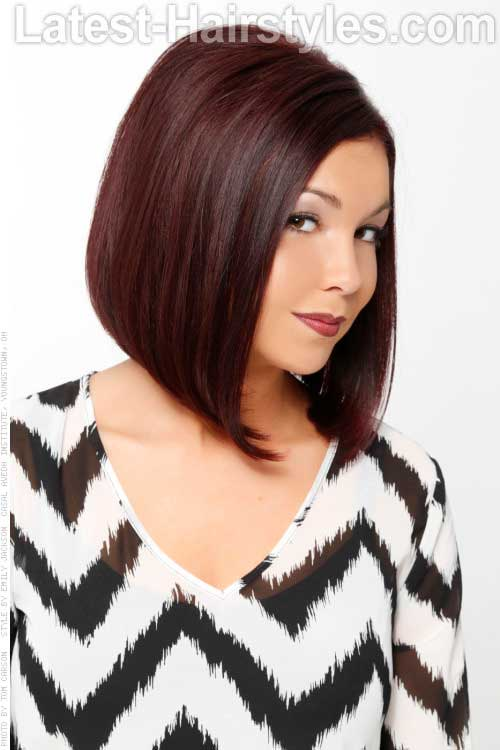 Dark Bob Haircut Round Face