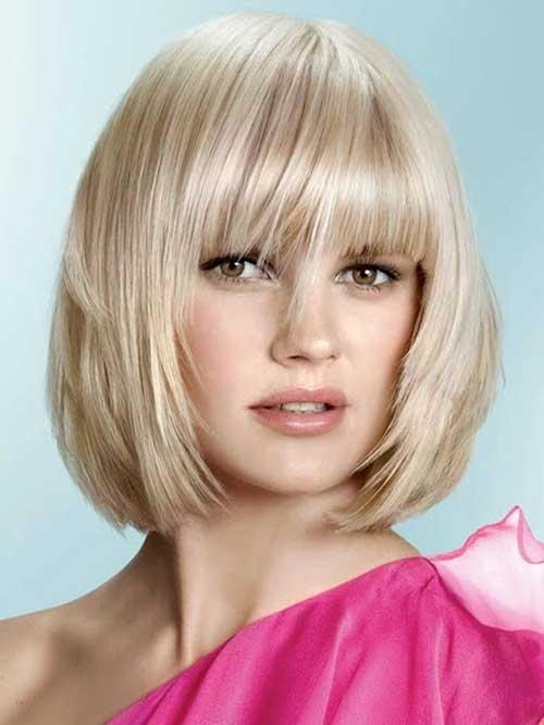 Layered Bob Haircut for Round Face
