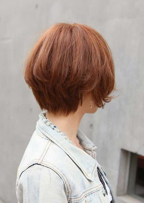 Cute Short Hair Back View Pics