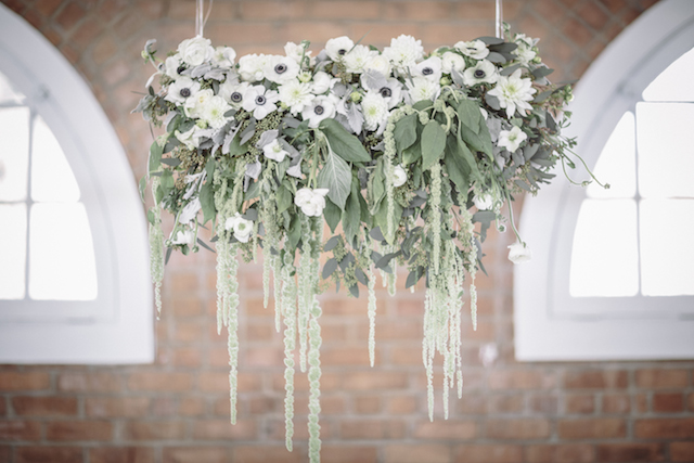 Flower chandelier | Mike Rose Photography | see more on: http://burnettsboards.com/2015/05/urban-spring/