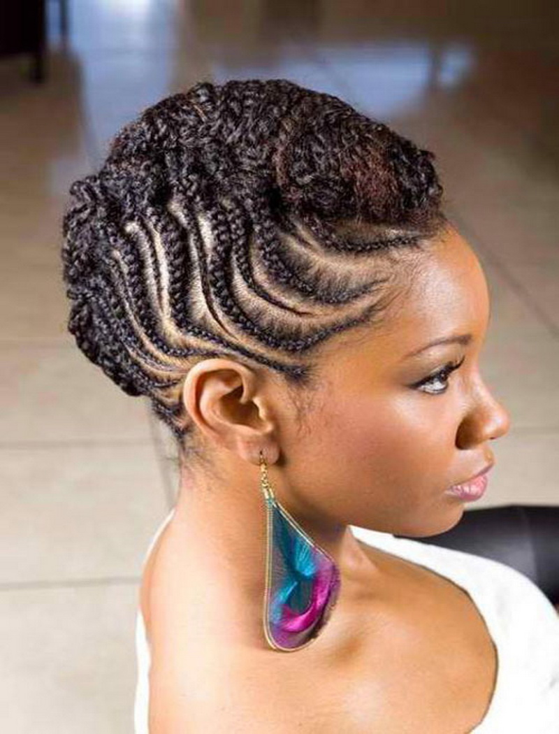 Black Braided Hairstyles for Prom 2014