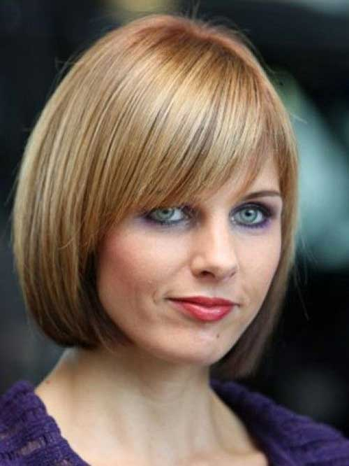 Short Straight Bob with Layered Bangs