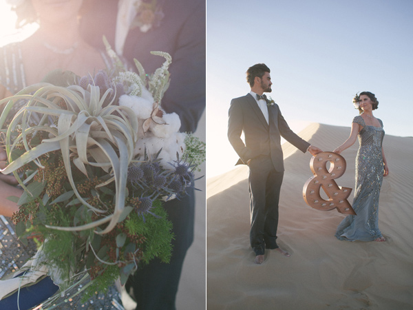 marquee signs - photo by Ashley Williams Photography http://ruffledblog.com/california-sand-dunes-wedding
