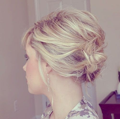 Bridesmaid Updo Hairstyle Idea for Short Hair