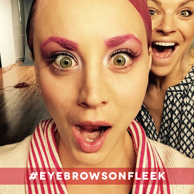 Kaley Cuoco Pink #eyebrowsonfleek