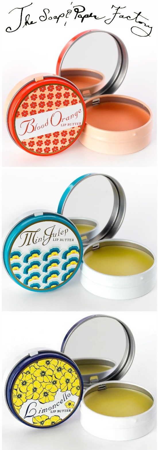 Soap and Paper Factory Lip butters - Blood Orange, Mint Julip and Limoncello