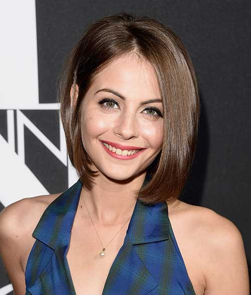 Willa Holland Fine Bob Haircut