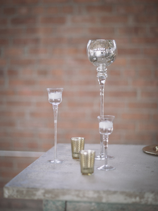 Mercury glass candlestick | Mike Rose Photography | see more on: http://burnettsboards.com/2015/05/urban-spring/