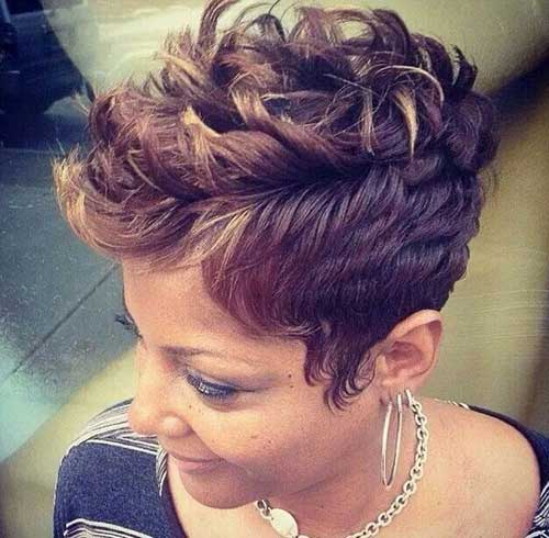 Short Curly Trendy Hairstyles