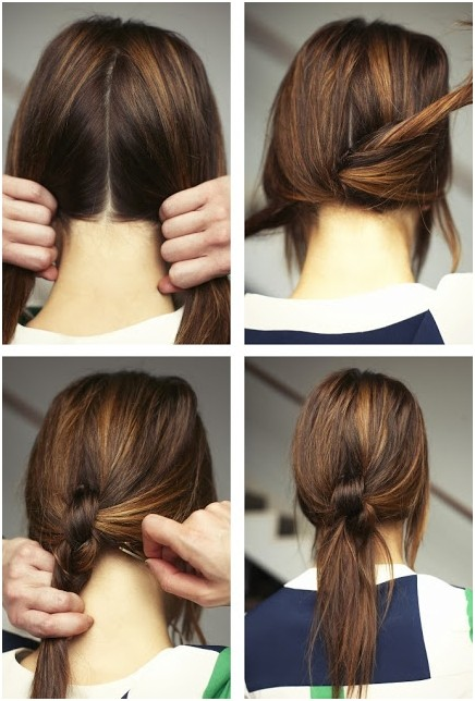 Knotted Ponytail Hairstyle for Girls