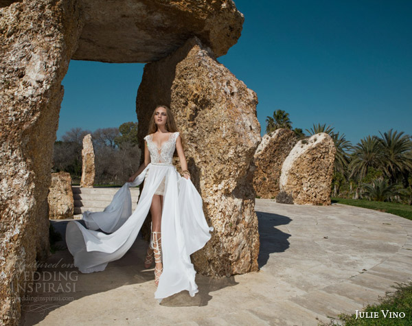 julie vino spring 2015 desert rose bridal collection dakota cap sleeve wedding dress