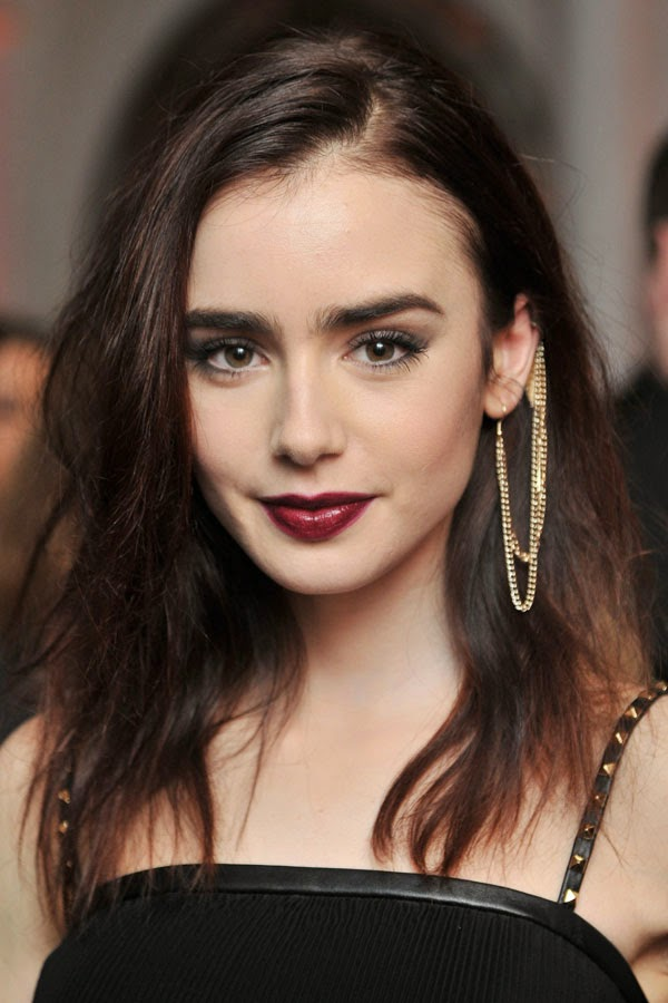 statement earrings lily collins