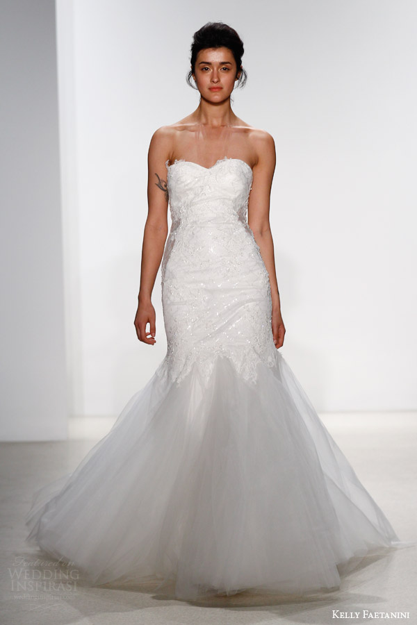kelly faetanini bridal spring 2016 kaia strapless mermaid wedding dress godet skirt sweetheart neckline