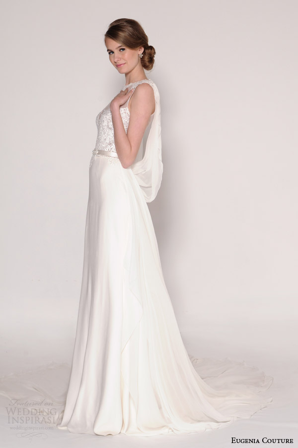 eugenia couture bridal spring 2016 harmony sleeveless wedding dress draped back
