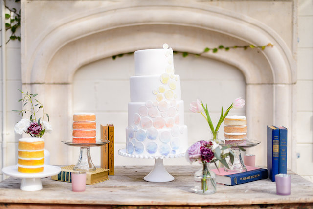 Pastel ombre wedding cake and naked cakes | The Veil Wedding Photography | see more on: http://burnettsboards.com/2015/05/whimsical-pastel-ombre-wedding-ideas/