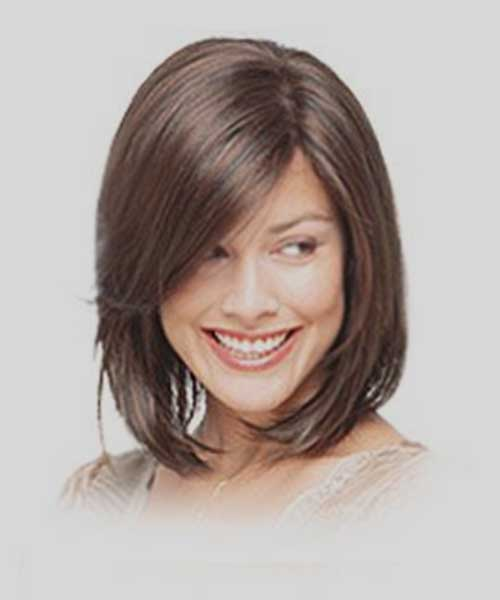 Layered Bob with Angled Cut and Bangs
