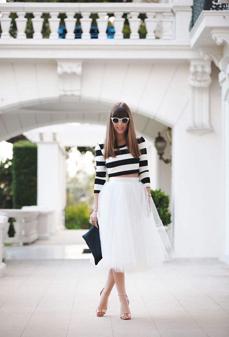 tulle skirts and stripes