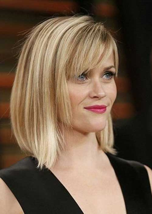 Reese Witherspoon Straight Short Hair with Bangs