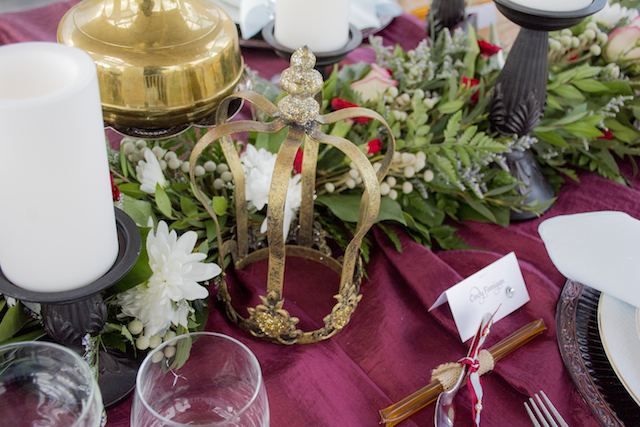 Gold crown | Alisha Khan Photography | see more on: http://burnettsboards.com/2015/05/romance-chivalry-medieval-inspiration-shoot/
