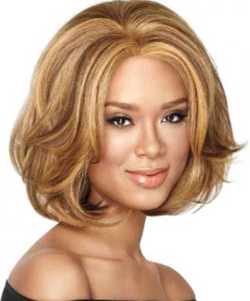 Thick Bob Hair for Round Faces Style