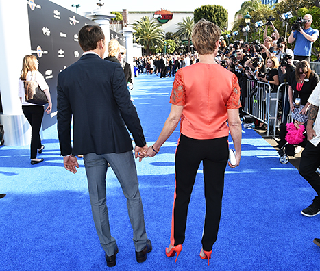 Tim McGraw and Faith Hill attend the premiere of Disney's