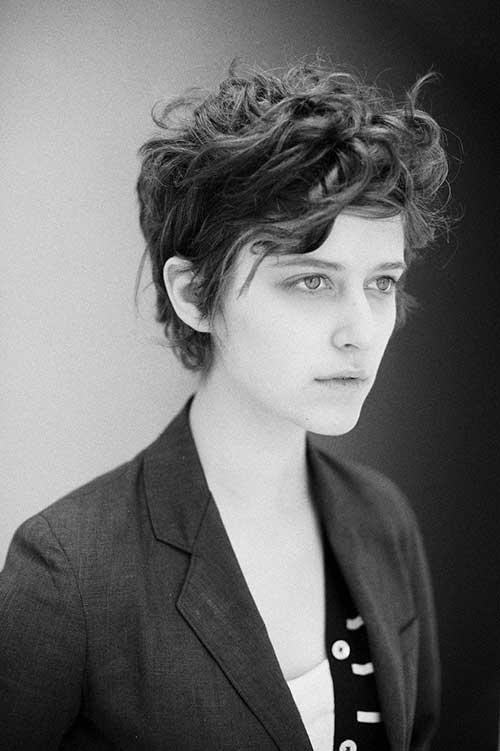 Short Pixie with Messy Curls Styles